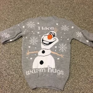 Mens Acrylic Olaf Sweater-Unisex